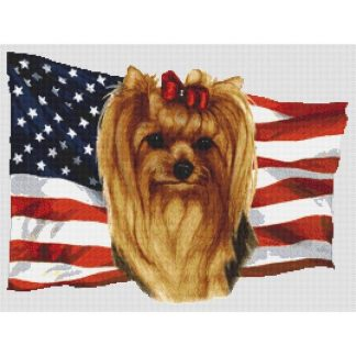 Yorkshire Terrier Cross Stitch Pattern I