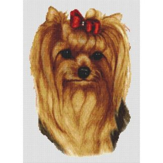 Yorkshire Terrier Cross Stitch Pattern V