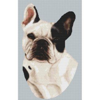 French Bulldog Cross Stitch Pattern II