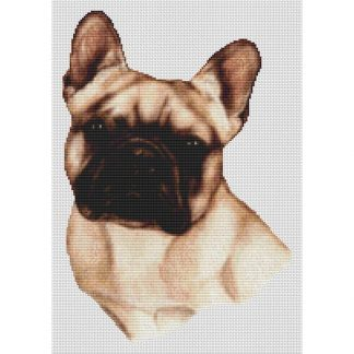 French Bulldog Cross Stitch Pattern III