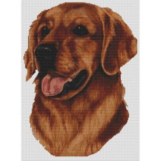Golden Retriever Cross Stitch Pattern - Red