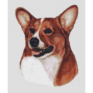 Corgi Cross Stitch Pattern - Red