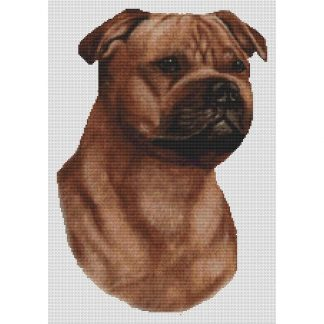 Staffordshire Bull Terrier Cross Stitch Pattern III