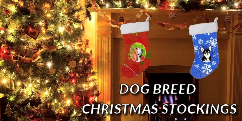 Slider Collage Dog Breed Christmas Stockings