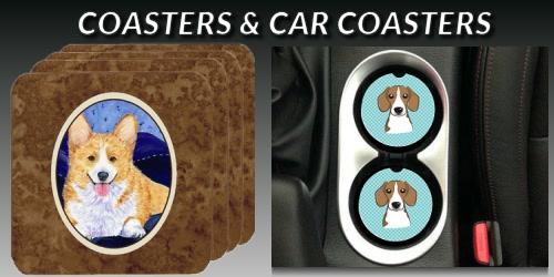Dog Breed Coasters and Car Coasters