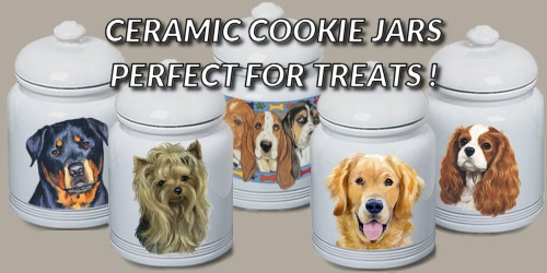 Slider Collage Dog Breed Cookie Jar