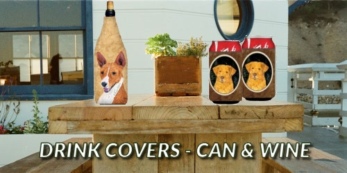 Dog Breed Wine Bottle Covers and Canned Drink Covers