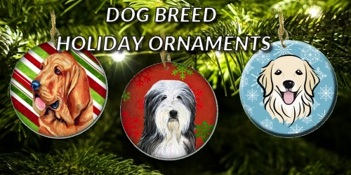 Slider Collage Dog Breed Holiday Ornaments