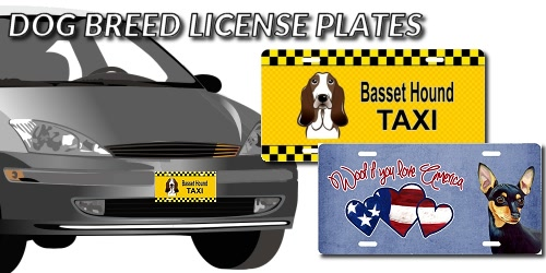 Slider Collage Dog Breed License Plates