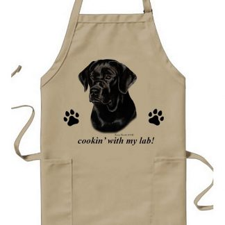 Black Lab Apron - Cookin