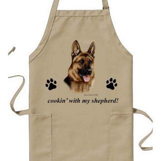German Shepherd Apron - Cookin