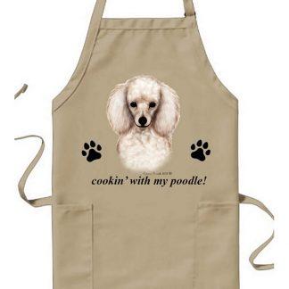 White Poodle Apron - Cookin