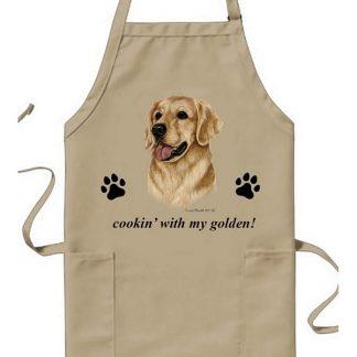 Golden Retriever Apron - Cookin