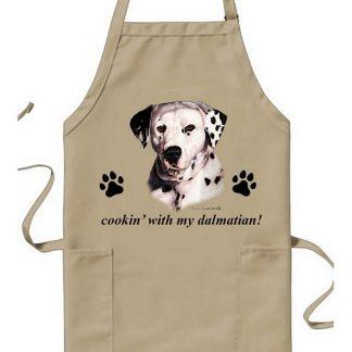 Dalmatian Apron - Cookin (Black)