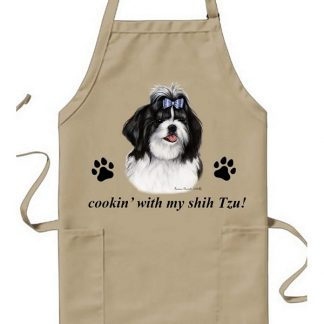 Shih Tzu Apron - Cookin (Black)