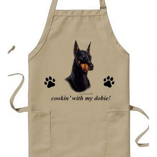 Doberman Pinscher Apron - Cookin