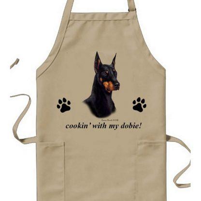 Doberman Pinscher Apron - Cookin
