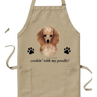 Apricot Poodle Apron - Cookin