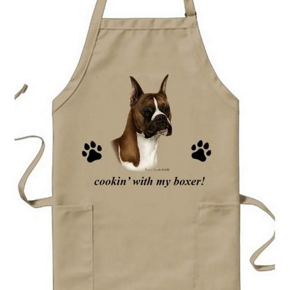 Boxer Apron - Cookin (Fawn Cropped)
