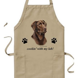 Chocolate Lab Apron - Cookin
