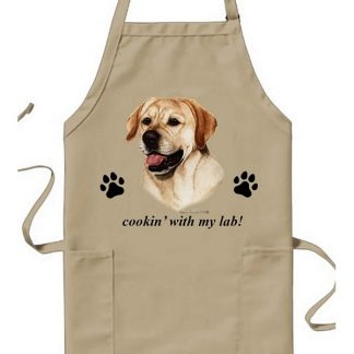 Yellow Lab Apron - Cookin