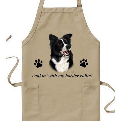 Border Collie Apron - Cookin