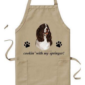 Springer Spaniel Apron - Cookin (Liver)
