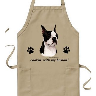 Boston Terrier Apron - Cookin