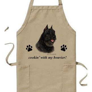 Bouvier Apron - Cookin (Black Cropped)