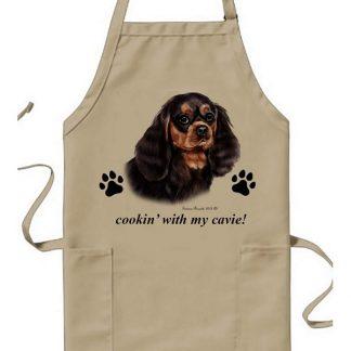 Black & Tan Cavalier Spaniel Apron - Cookin