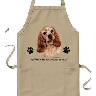 Cocker Spaniel Apron - Cookin