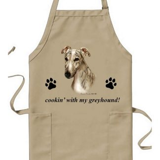 Greyhound Apron - Cookin (Fawn Brindle)