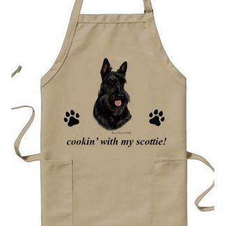 Scottish Terrier Apron - Cookin (Black)