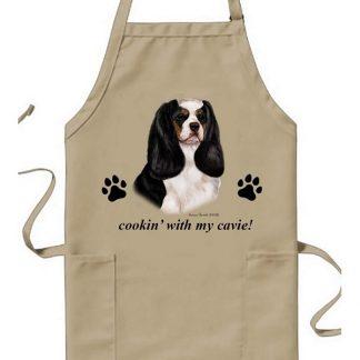 Tri Cavalier Spaniel Apron - Cookin