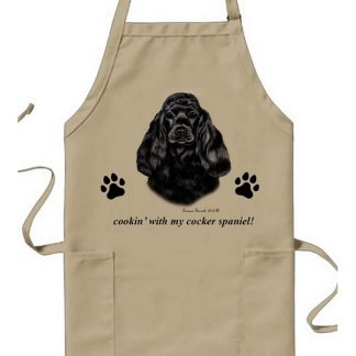 Black Cocker Spaniel Apron - Cookin