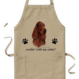 Irish Setter Apron - Cookin (Red)