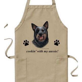 Australian Cattle Dog Apron - Cookin (Blue)