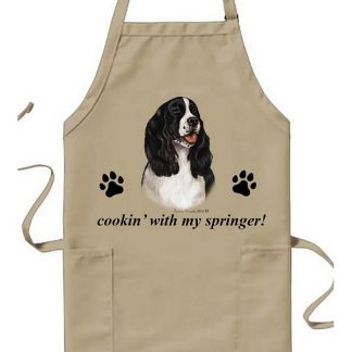 Springer Spaniel Apron - Cookin (Black)
