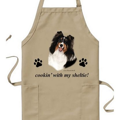 Tri Shetland Sheepdog Apron - Cookin