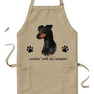 Miniature Pinscher Apron - Cookin (Black Tan Uncropped)