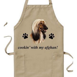 Afghan Hound Apron - Cookin