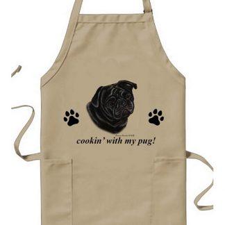 Pug Apron - Cookin (Black)