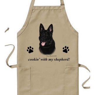 German Shepherd Apron - Cookin (Black)