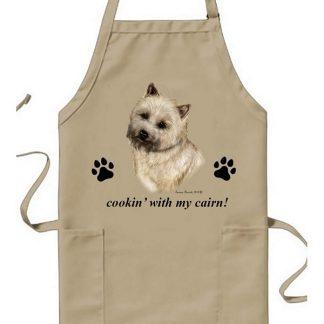 Cairn Terrier Apron - Cookin (Wheaten)