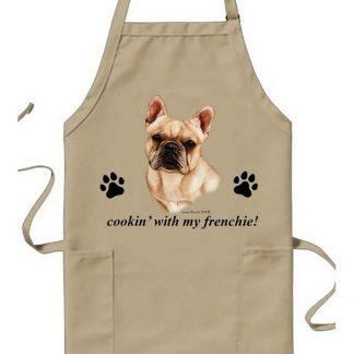 French Bulldog Apron - Cookin (Cream)