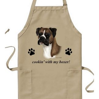 Boxer Apron - Cookin (Fawn Uncropped)