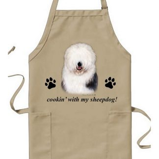 Old English Sheepdog Apron - Cookin