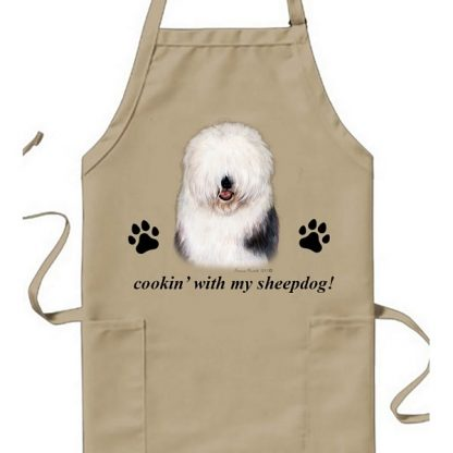 Old English Sheepdog Apron - Cookin