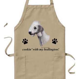 Bedlington Terrier Apron - Cookin (Blue)