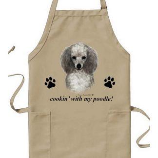 Silver Poodle Apron - Cookin